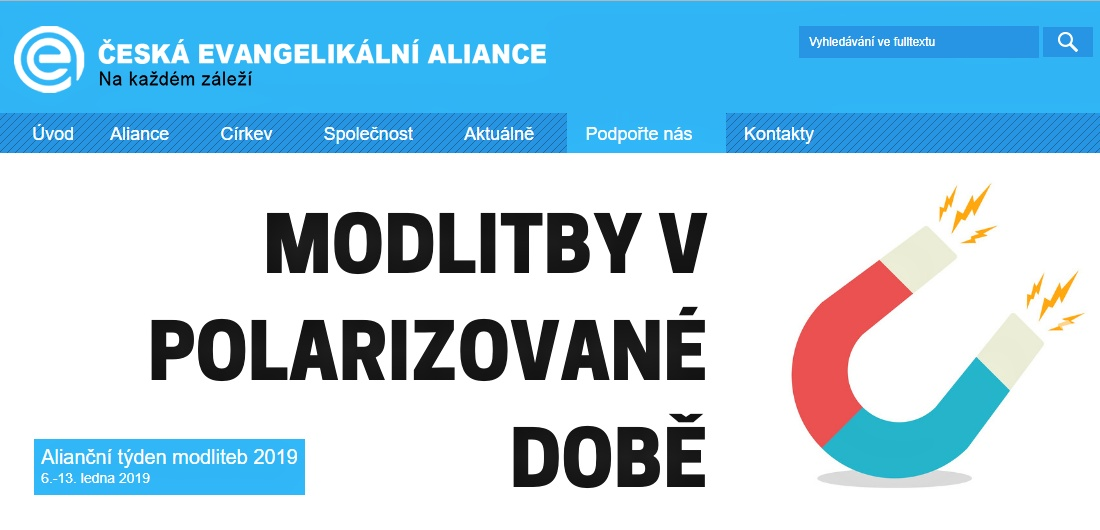Český Alianční týden modliteb vatmosféřespolečenské polarizace