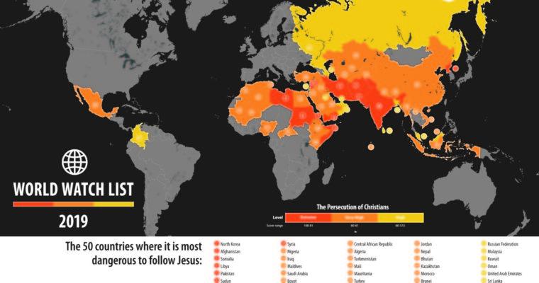 Letošní zpráva ostavu perzekuce křesťanů: Nejvíce si pohoršily Rusko aČína