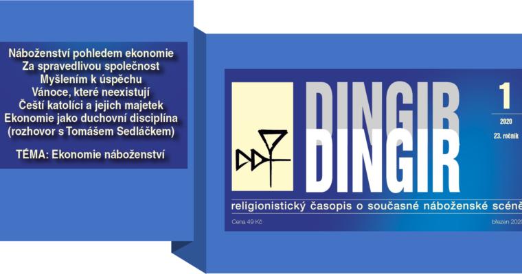 Ekonomie náboženství – vyšel nový Dingir