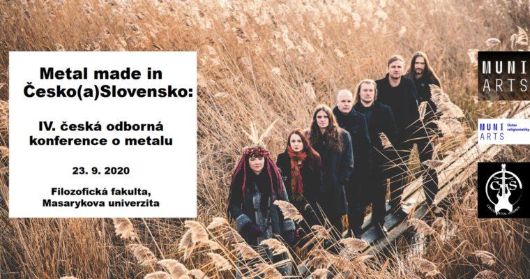 Štvrtá konferencia Czech Metal Studies – Metal Made In Česko(a)Slovensko