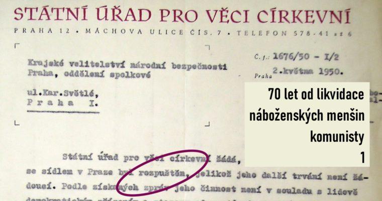 Náboženská situace vČeskoslovensku vroce 1951